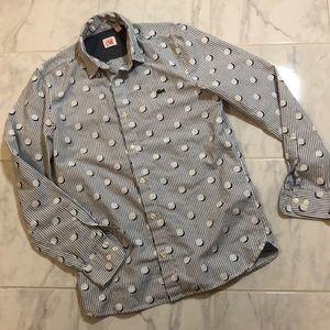 Lacoste live men's long sleeve dress shirt. EUC!